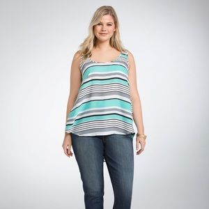 Torrid sriped pocket tank top